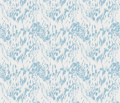 Night Wings (periwinkle) MED fabric by nouveau_bohemian on Spoonflower - custom fabric