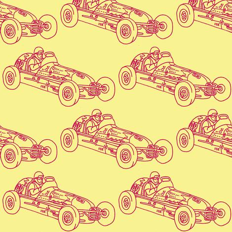 Child's Wind Up Tin Litho Race Car fabric by edsel2084 on Spoonflower - custom fabric