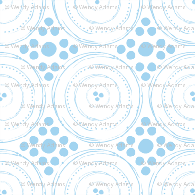 circles dots grid blue