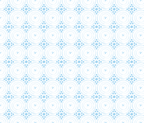 circles dots grid blue fabric by finishyourcrafts on Spoonflower - custom fabric