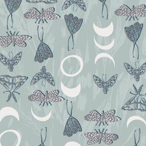 Deluna Moths (pewter) MED