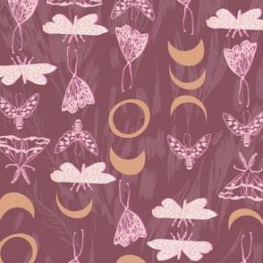 Deluna Moths (claret) MED