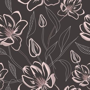 Dark magnolia bloom