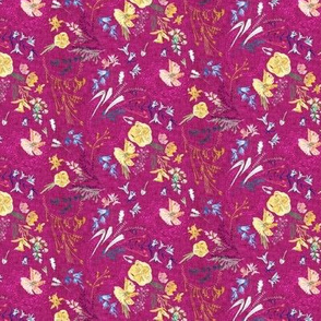 Let's Go Pick Wildflowers (magenta) MICRO