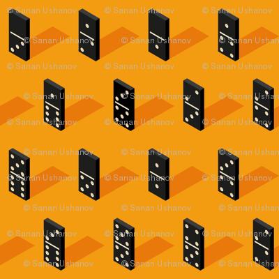 black Isometric Bones Dominoes