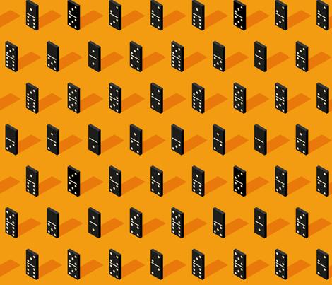 black Isometric Bones Dominoes fabric by blackfeathergrass on Spoonflower - custom fabric