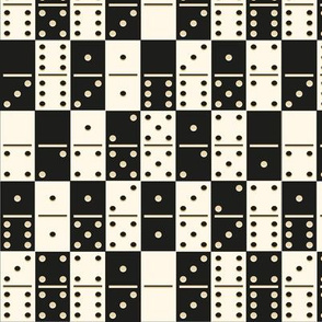 White And Black Bones Dominoes