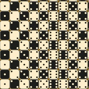 black And White Dice Pattern