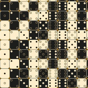 random Black And White Dice Pattern