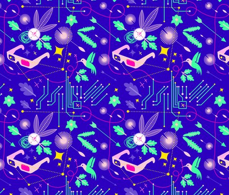 Adventurous girl ! fabric by ms_jekyll_and_ms_hyde on Spoonflower - custom fabric