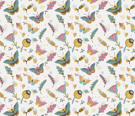 summer butterflies fabric by shafranka on Spoonflower - custom fabric