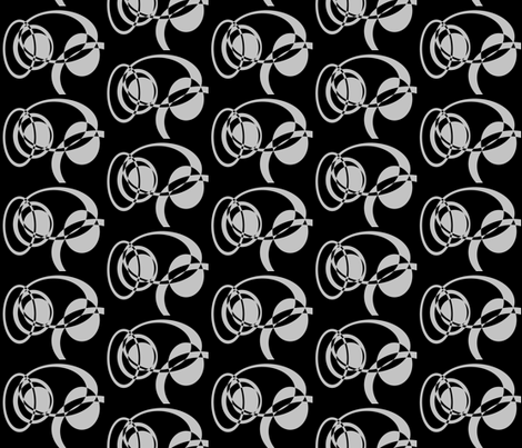 Grey on Black Circles Contrasts fabric by b2b on Spoonflower - custom fabric