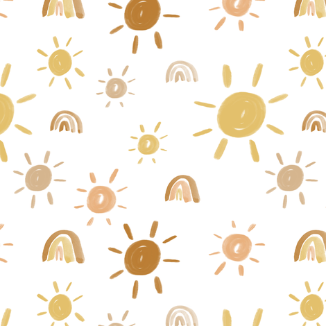 Mr. Golden Sun fabric by montgomeryfest on Spoonflower - custom fabric