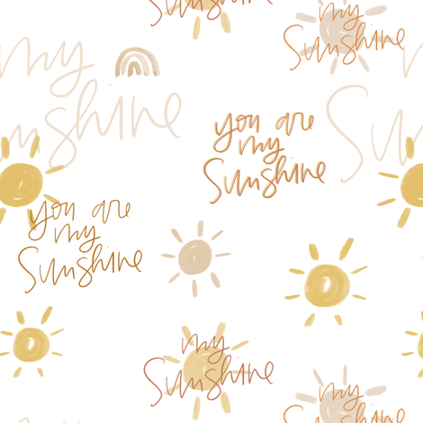 You Are My Sunshine fabric by montgomeryfest on Spoonflower - custom fabric