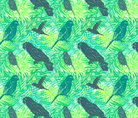 Parrot's Paradise fabric by maryna_r on Spoonflower - custom fabric