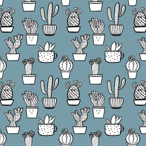 Doodle hand drawn cactuses