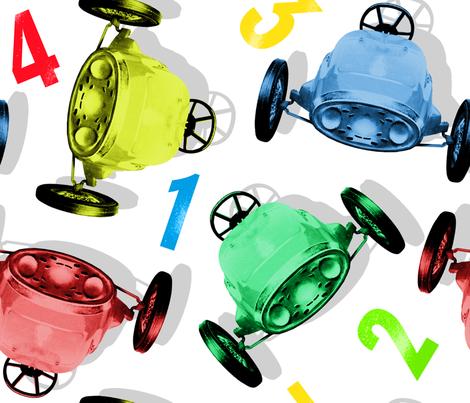 Cars fabric by hoskari on Spoonflower - custom fabric