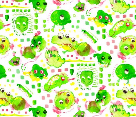 spoonflower-monster-300 fabric by little_laughing_studio on Spoonflower - custom fabric