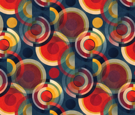 bauhaus circles  fabric by dessineo on Spoonflower - custom fabric