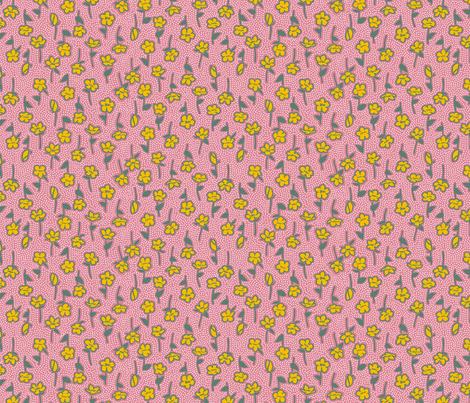 Yamabuki 2 Pink Dull Green fabric by tacoinou on Spoonflower - custom fabric