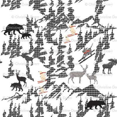 Animals Skiing