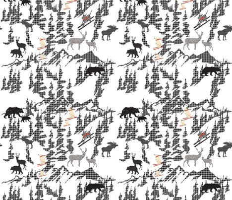 Animals Skiing fabric by babyancestree on Spoonflower - custom fabric