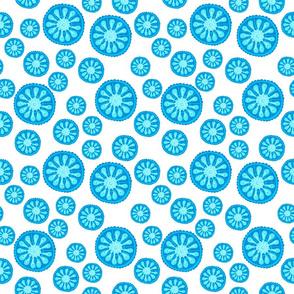 seamless pattern of jellyfish.