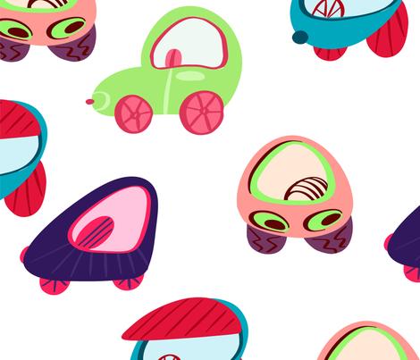 Children's colored cars. fabric by irina_popova on Spoonflower - custom fabric