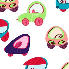 Children's colored cars.