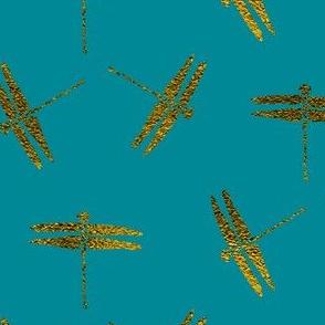 Gold dragonflies