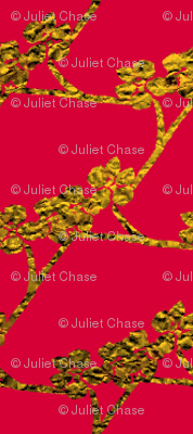 Gold art deco floral
