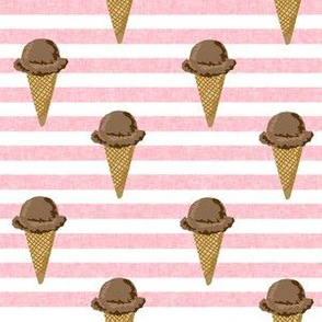chocolate ice cream cones stripes summer beach food  pink