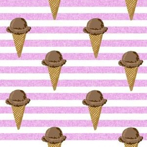 chocolate ice cream cones stripes summer beach food  purple