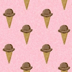 chocolate ice cream cones stripes summer beach food  pink solid