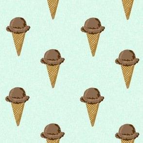 chocolate ice cream cones stripes summer beach food  mint solid