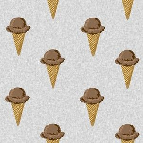 chocolate ice cream cones stripes summer beach food  grey solid