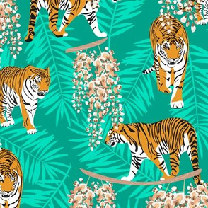 Siberian tiger. Mint pattern