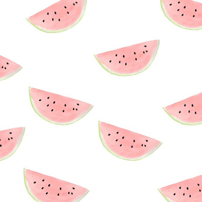 watermelon seamless pattern on white