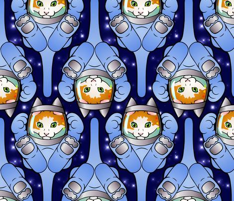 Astronaut Kittens  fabric by hannafate on Spoonflower - custom fabric