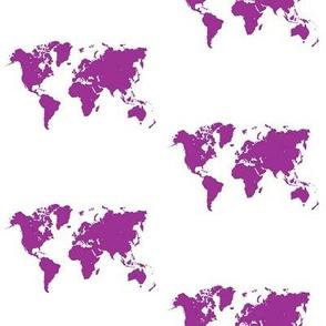World map_purple_4in repeat