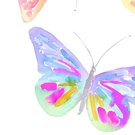 butterfly garden large fabric by erinanne on Spoonflower - custom fabric
