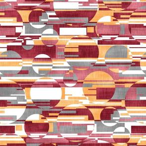Circular Stripe Linen