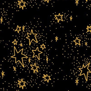 Freehand Stars #2 in gold