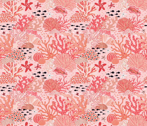 coral reef  fabric by vivdesign on Spoonflower - custom fabric