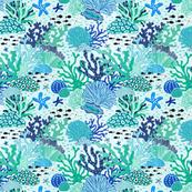 coral reef - blue