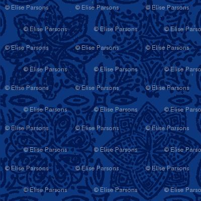 Flamingo Paisley Coordinate: Blue Tile