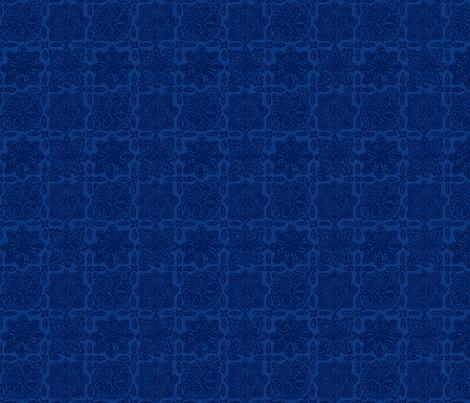 Flamingo Paisley Coordinate: Blue Tile fabric by eliseparsons on Spoonflower - custom fabric