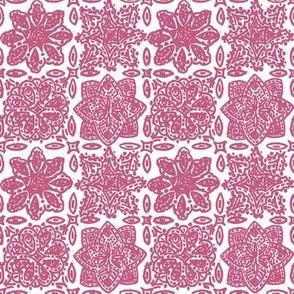 Flamingo Paisley Coordinate: Magenta Tile