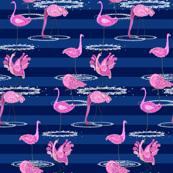 Pink Flamingo Paisley