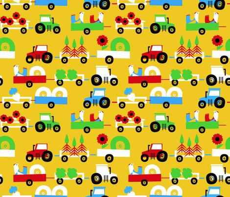 fourwheelsfarm fabric by b© on Spoonflower - custom fabric